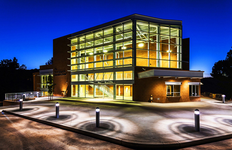 Agoura-High-School-Performing-Arts-Education-Center-2-Front-Entrance-at-Night