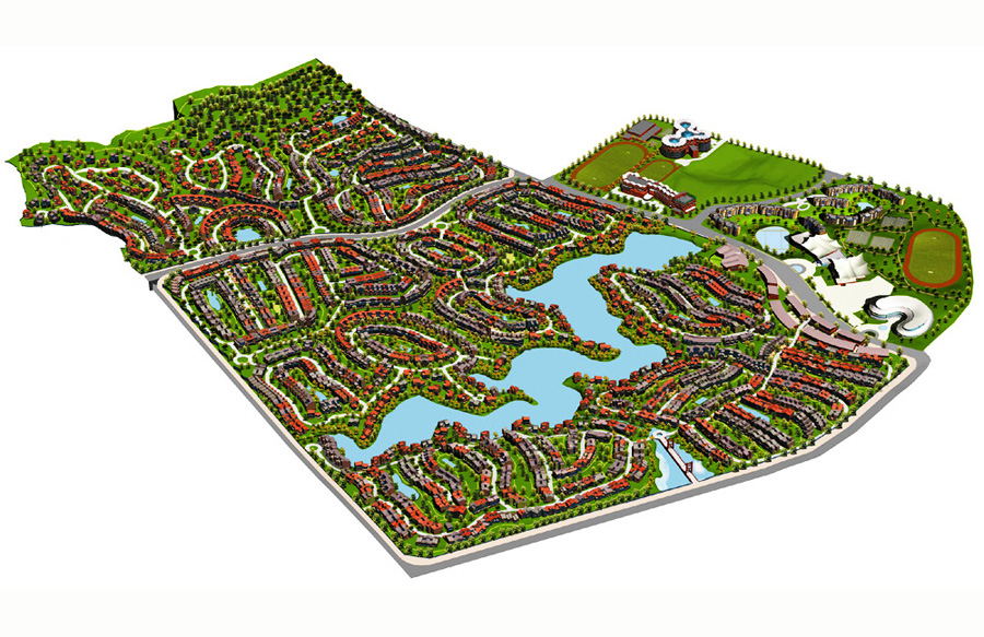 Longhu-Blue-Lake-County-Housing-Development-11-Masterplan