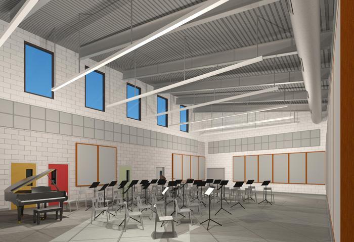 Carmel Valley Middle School Music Building interior-s